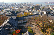 和歌山城から和歌山市内を望む