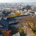 와카야마성에서 와카야마 시내를 바라본다